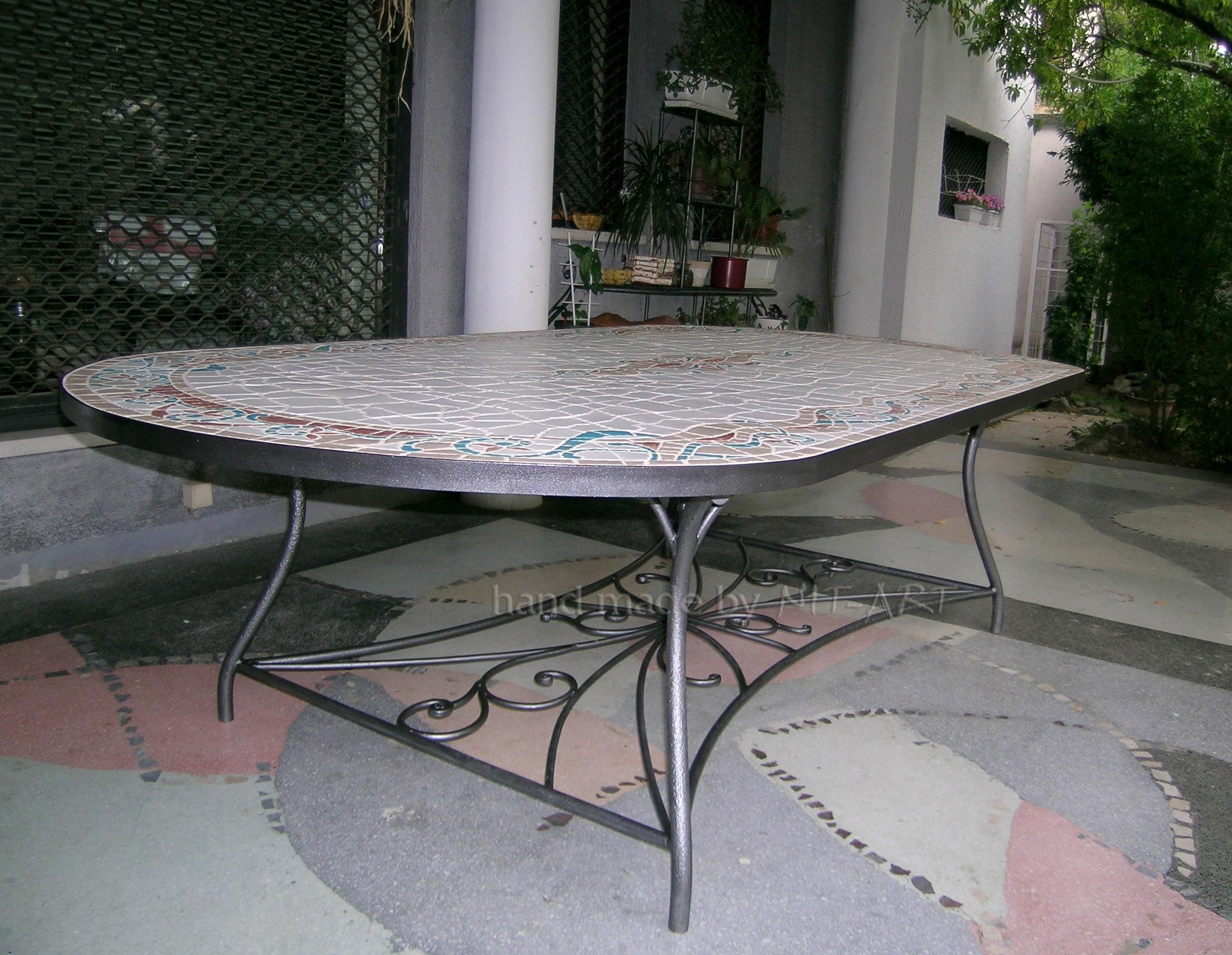 NIT-ART Kovani trpezarijski sto